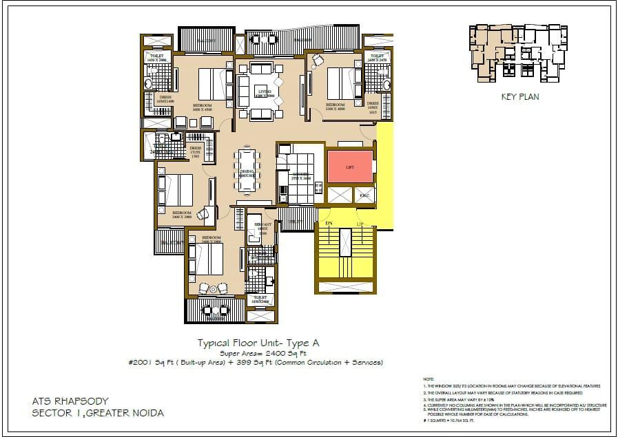 Ats Rhapsody Greater Noida West Price List Floor Plan