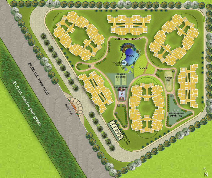sikka-karmic-greens-sec78-noida-residential-property-site-map