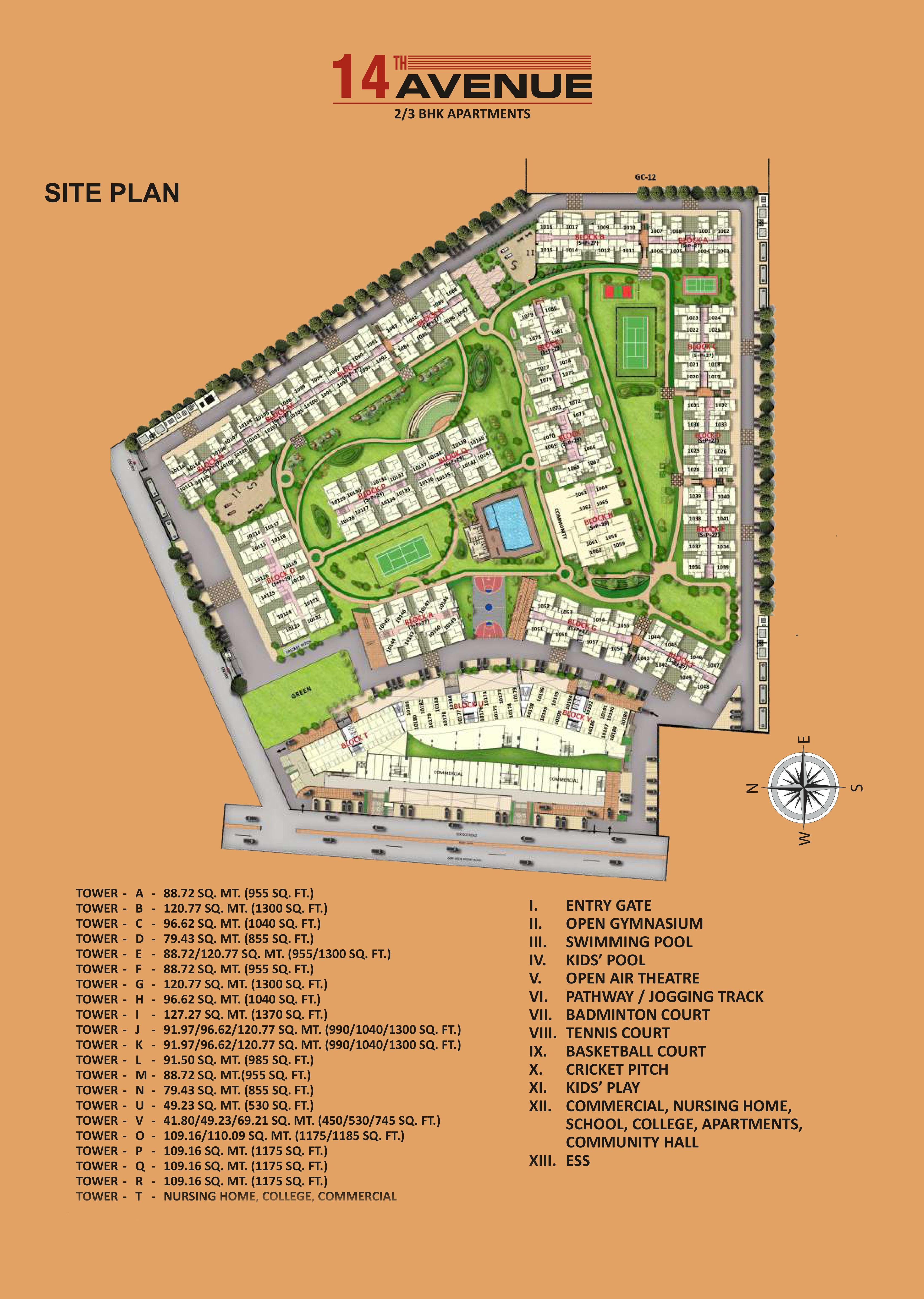 Gaur City 14th Avenue Resale Master plan